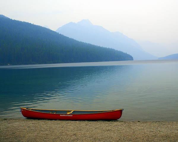 Lonly Canoe Poster