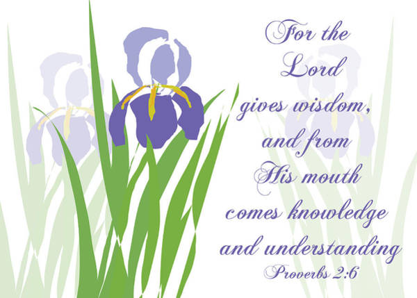 Lord Gives Wisdom Proverbs Poster