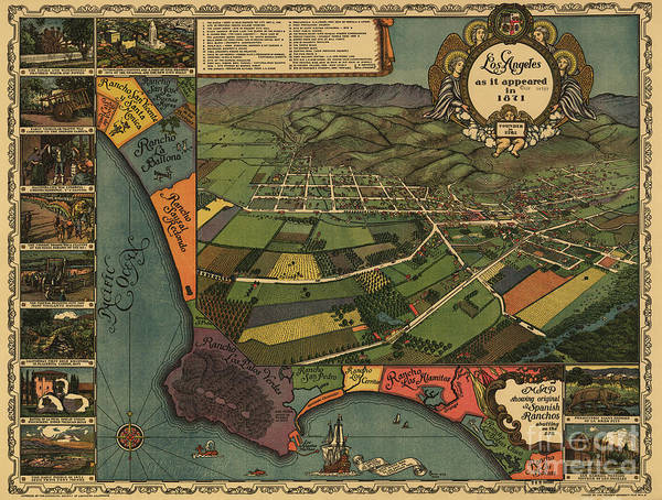 Los Angeles As It Appeared In 1871 Poster