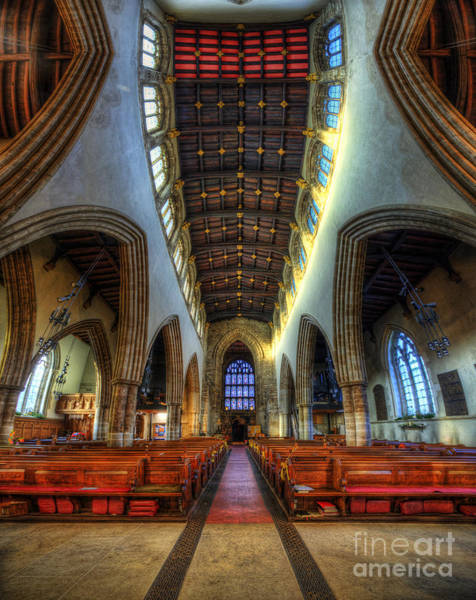 Loughborough Church - Nave Vertorama Poster