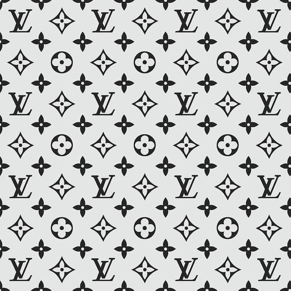 Louis Vuitton Pattern Lv 07 Grey Poster