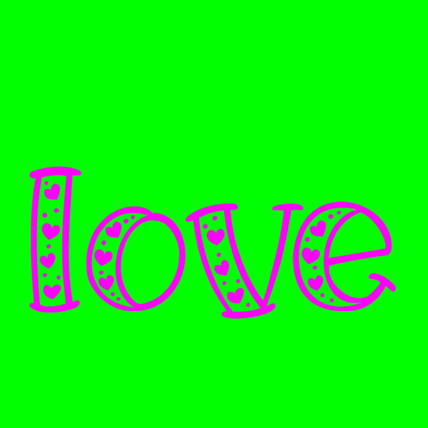 Love In Magenta And Green Poster