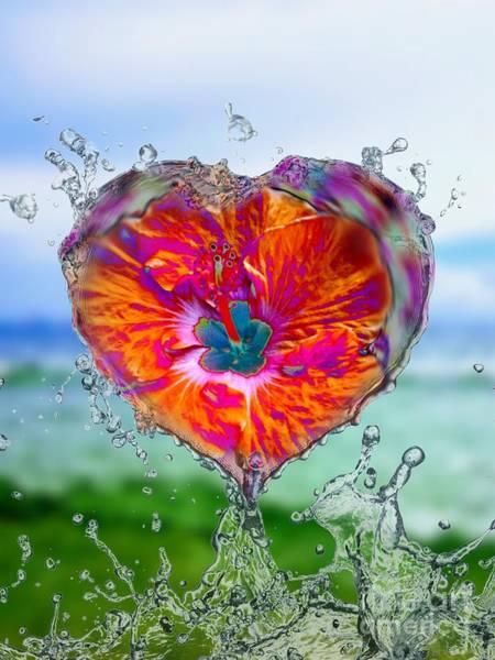 Love Makes A Splash Poster
