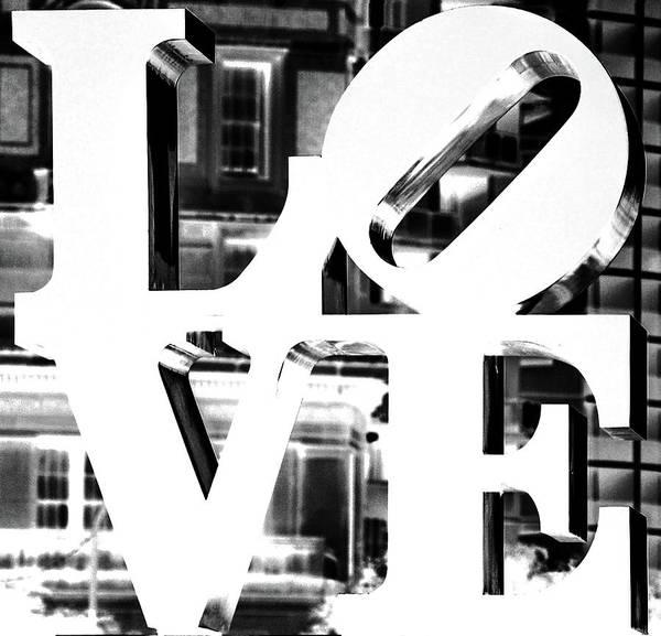 Love Philadelphia White  Poster