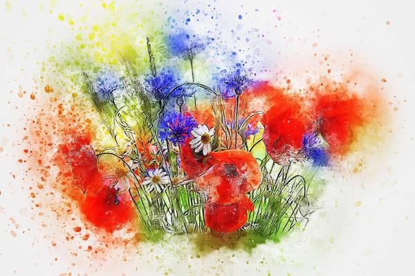 Watercolour Bouquet Poster