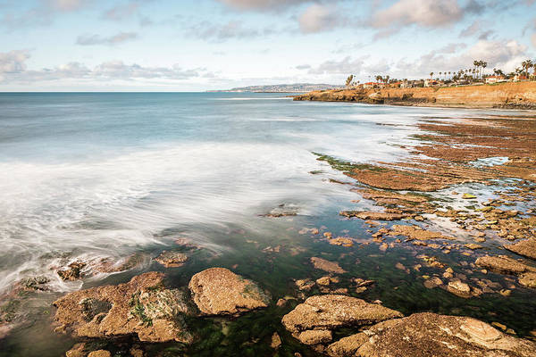 Low Tide At Sunset Cliffs Poster