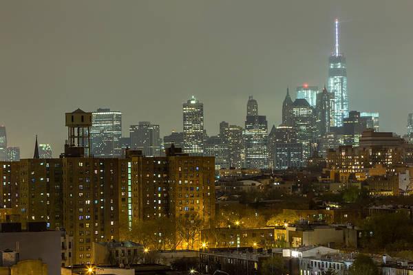 Lower Manhattan Cityscape Seen From Brooklyn Poster