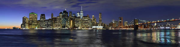 Lower Manhattan From Brooklyn Heights At Dusk - New York City Poster