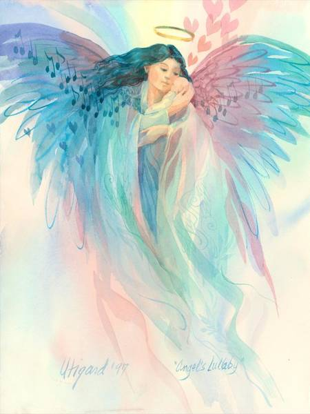 Poster featuring the painting Lullaby Angel by Carolyn Utigard Thomas