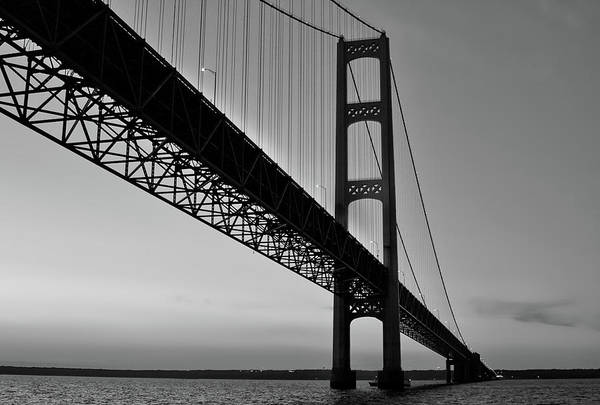 Mackinac Bridge At Sunset Poster
