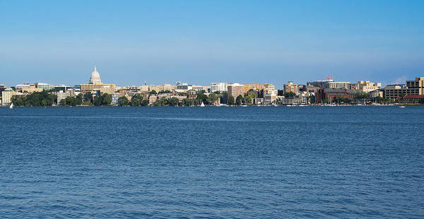 Madison Skyline From Picnic Point Poster