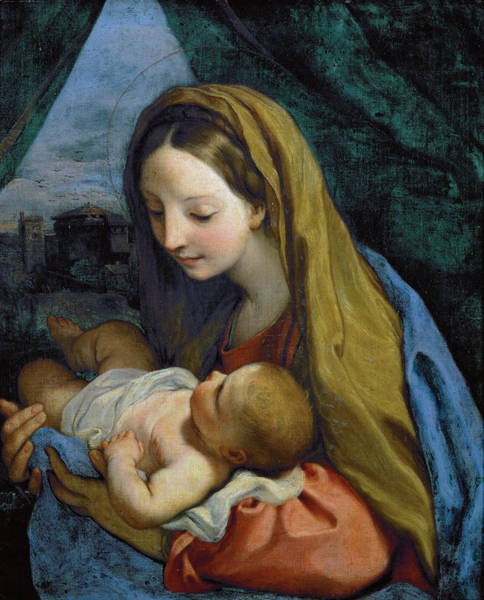 Poster featuring the painting Madonna And Child by Carlo Maratta