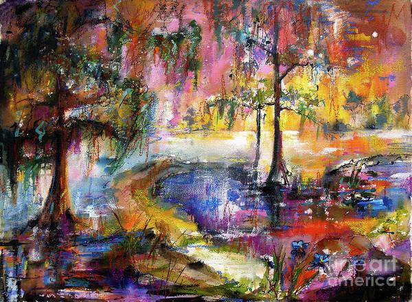 Magical Wetland Landscape Poster
