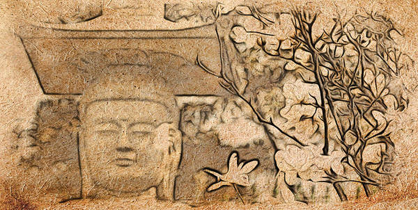 Magnolia Buddha Poster