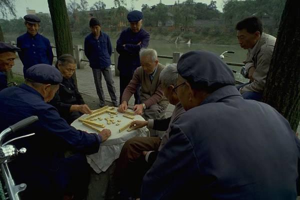 Mahjong In Guangzhou Poster