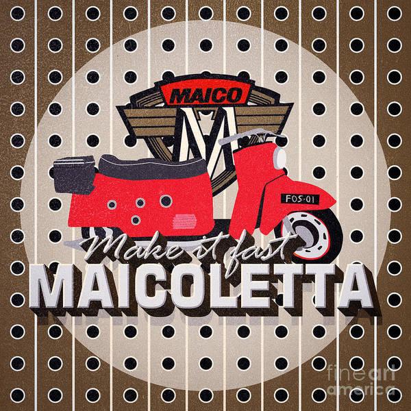 Maicoletta Scooter Advertising Poster