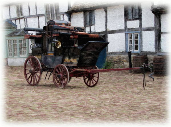 Poster featuring the digital art Mail Coach At Lacock by Paul Gulliver