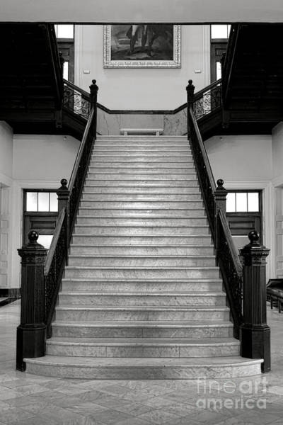 Maine Capitol West Wing Staircase Poster