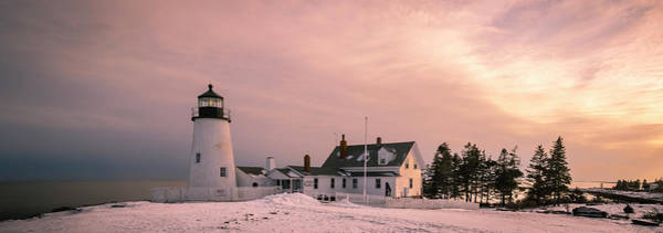 Maine Pemaquid Lighthouse After Winter Snow Storm Poster