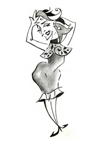 Malena Tango - Sexy Woman Pencil Drawing Poster
