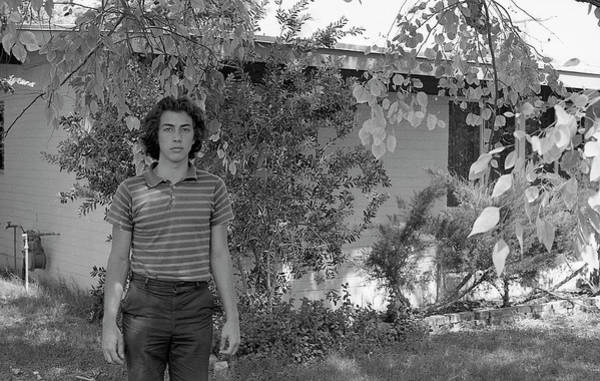 Man In Front Of Cinder-block Home, 1973 Poster