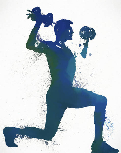 Man Weightlifting Poster
