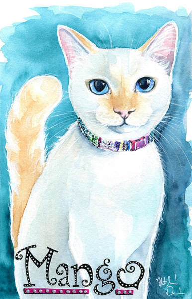 Mango - Flame Point Siamese Cat Painting Poster