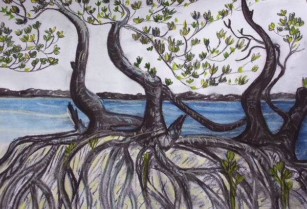 Poster featuring the painting Mangroves by Joan Stratton