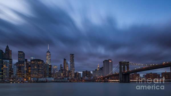 Manhattan And Brooklyn Bridge Poster