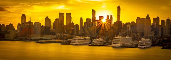 Manhattan's Ports At Sunrise Poster