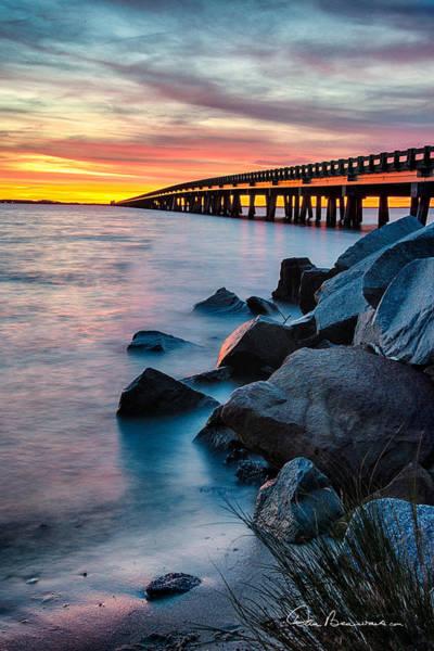 Manns Harbor Bridge Sunset 1127 Poster