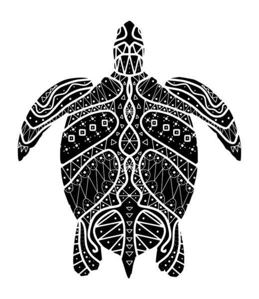 Maori Turtle Poster