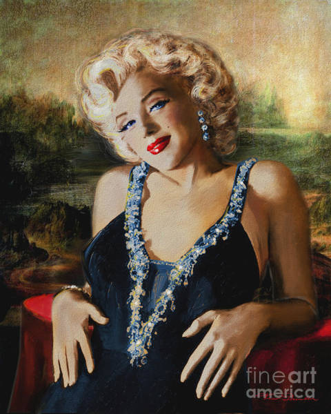 Marilyn Monroe  Mona Lisa  Poster