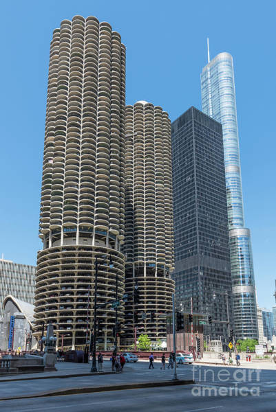 Marina City, Ama Plaza, And Trump Tower Poster