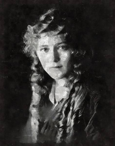 Mary Pickford Vintage Hollywood Actress Poster