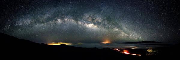 Mauna Kea Milky Way Panorama Poster