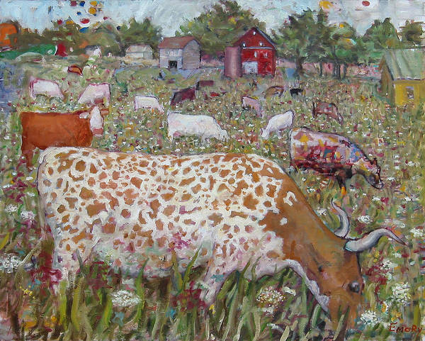 Meadow Farm Cows Poster