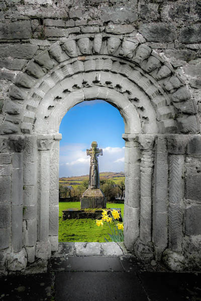 Medieval Arch And High Cross, County Clare, Ireland Poster
