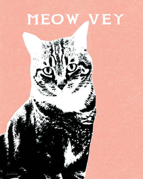 Meow Vey- Art By Linda Woods Poster