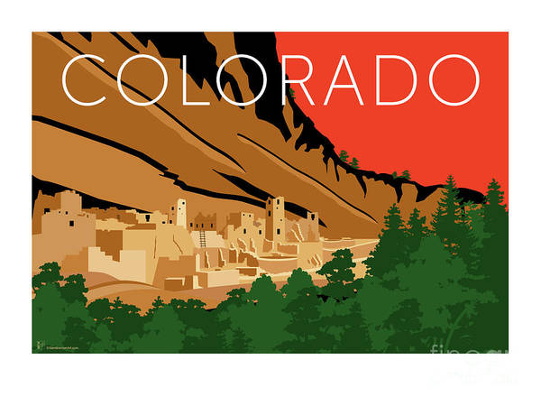 Mesa Verde Orange Poster
