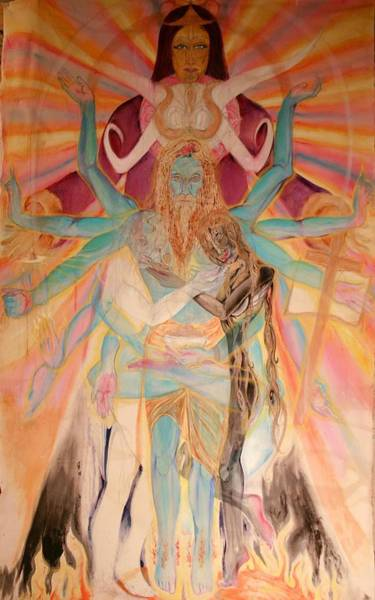 Poster featuring the painting Messiah by Brian c Baker