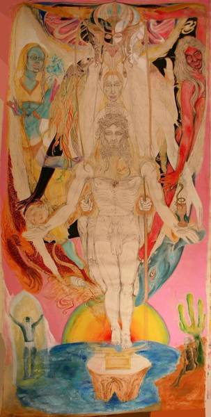 Poster featuring the painting Metatron by Brian c Baker