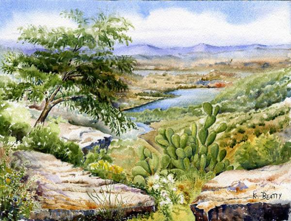 Mexican Landscape Watercolor Poster