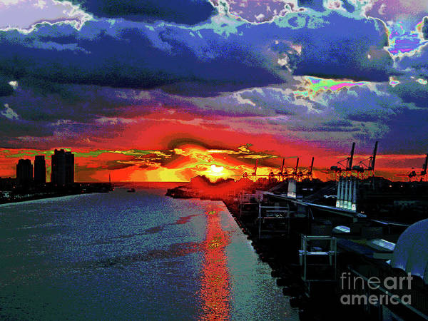 Miami Docks Poster