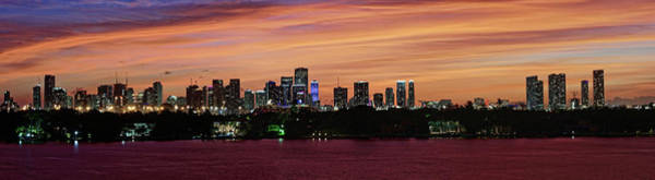 Miami Sunset Panorama Poster