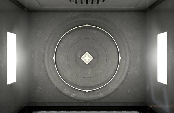 Microwave Top View Poster