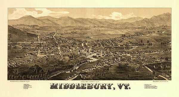 Antique Middlebury, Vt. Poster