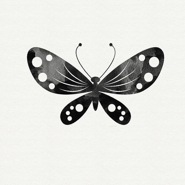 Midnight Butterfly 3- Art By Linda Woods Poster
