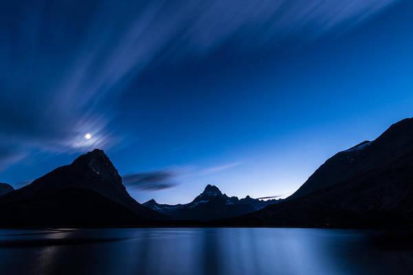 Midnight Over Glacier National Park Poster