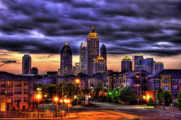 Midtown Atlanta Towers Over Atlantic Commons Art Poster